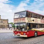 Stadtrundfahrt Dresden - Die Roten Doppeldecker mit 22 Haltestellen   (c) Stadtrundfahrt Dresden GmbH