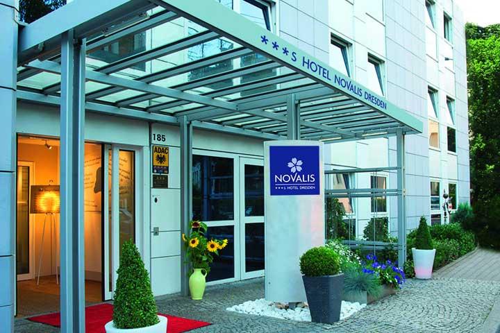 Novalis Hotel Dresden Eingang - Dresden erleben