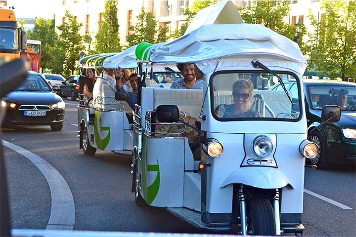 Die besondere Stadtrundfahrt, individuell und umweltfreundlich mit dem eTukTuk